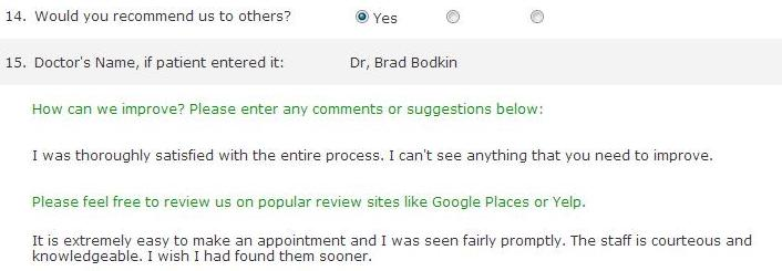 Review from 4/13/2013