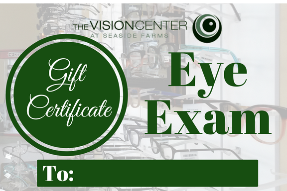 gift certificate eye exam